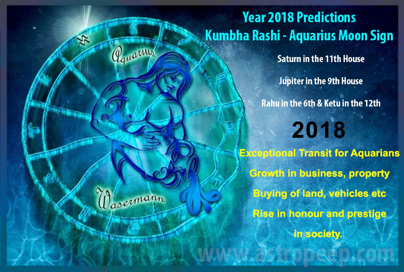 Aquarius Moon Sign 2018 - Kumbha rashi 2018 predictions
