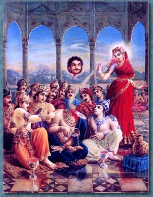 Mohini Avtaar by Vishnu to behead Rahu