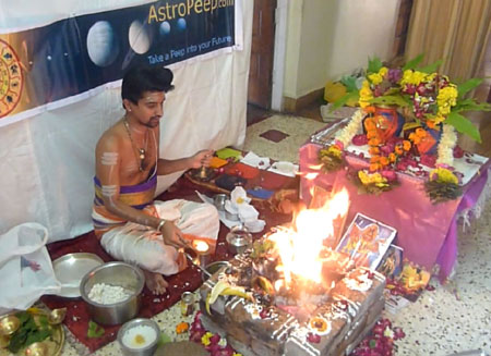 Pooja and Havan at astropeep.com