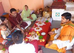People attending elaborate mangal Shanti poojas @ Shri MangalNath temple in Ujjain
