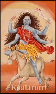 Durga day 7- kalaratri