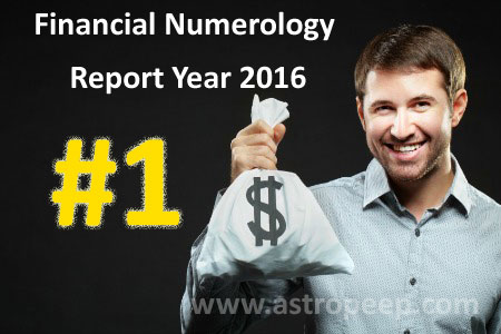 Financial Numerology 2016 - Personal Number 1