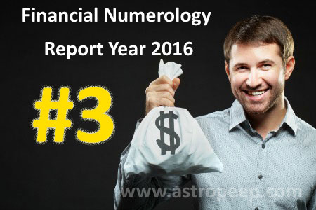 Financial Numerology 2016 - Personal Number 3