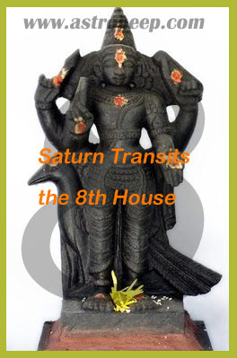 Ashtama Shani or Saturn in the 8th house from Transit