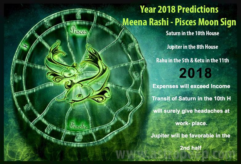 Pisces Moon sign 2018 - Meena rashi 2018 predictions