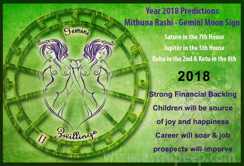 Gemini Moon Sign 2018 - Varshaphal Mithuna Rashi 2018