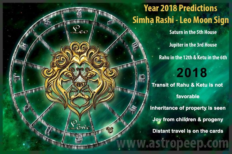 Leo Moon Sign 2018 - Simha Rashi 2018 predictions