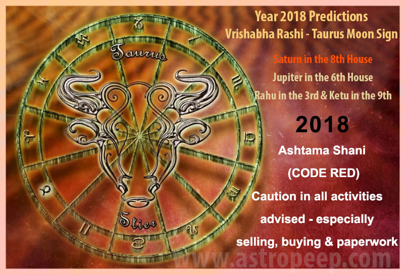 Taurus Moon Sign 2018 - Vrishabha Rashi 2018